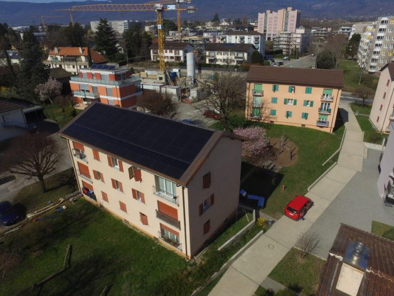 Rénovation énergétique d'un immeuble à Nyon (VD)