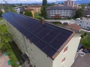 Amélioration énergétique d'un immeuble à Nyon (VD)