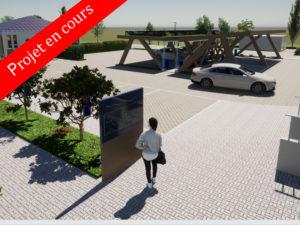 Parking rénovation en cours